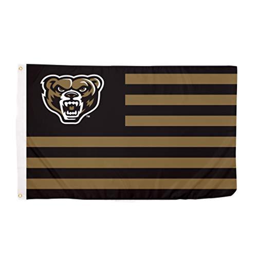 Desert Cactus Oakland University Golden Grizzlies NCAA 100% Polyester Indoor Outdoor 3 feet x 5 feet Flag (Nation)