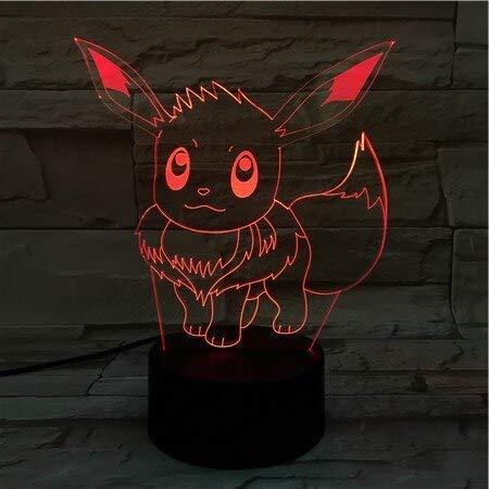 16 Cm Cartoon Pokemon Go Evee 3D Lava Lampe Weihnachten 7 Farbwechsel Led Nachtlicht Stimmung Dekor Geschenk Schlafzimmer Lampe Drop Ship