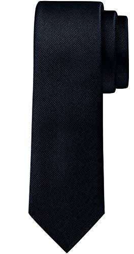 BomGuard 6cm herren-krawatte matt nachtblau schmale weihnachten seide damen männer frauen