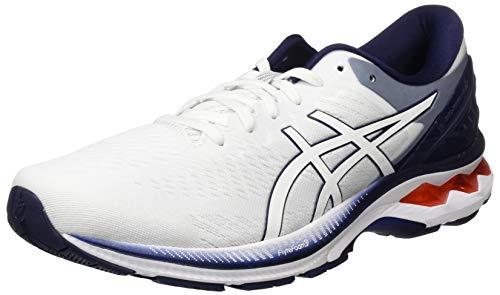 ASICS Men's Gel-Kayano 27 Running Shoe, White Peacoat, 6 UK