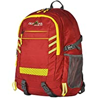 Olympia USA Huntsman 25L 19 Inch Red and Yellow Outdoor Backpack