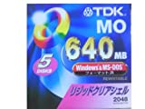640MB Windows&MS-DOSフォーマッ ト 5枚セット リキッドクリアシェル 2048バイト/セクター MO-R640DAX5