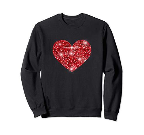 Corazón Rojo Original Regalo San Valentín para Hombre Mujer Sudadera