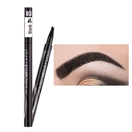 Allbesta Fork Tip Microblading Eyebrow Tattoo Tint Pen Fine Sketch Liquid Enhancer Pencil Waterproof(1 per pack)