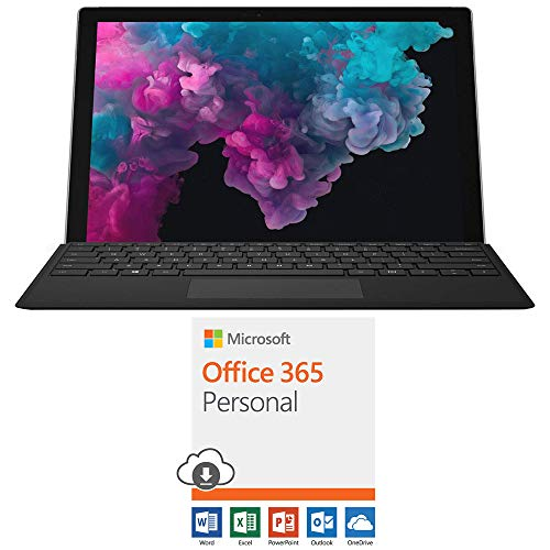 """Microsoft NKR-00001 Surface Pro 6 12.3"""" Intel i5-8250U 8GB/128GB with Black Pro Type Cover Bundle with Microsoft Office 365 Personal 1-Year Subscription for 1 Person"""