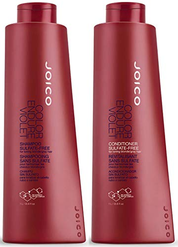 Joico Color Endure Violet Shampoo & Conditioner Set for Toning Blonde and Gray Hair, 33.8-Ounce
