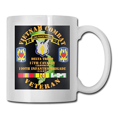 XCNGG Tassen KaffeetassenVietnam Combat Veteran W D Troop 17th Cav 199th Inf Bde Ultra White Ceramic Funny Coffee Mug Short Mug Mark Mug Unique Coffee Oz Coffee Mug