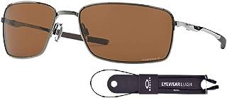 نظارات شمسية من أوكلي مربعة واير OO4075 للرجال + حزمة مع مجموعة اكسسوارات سلسلة اوكلي