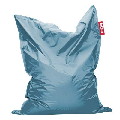 Fatboy® Original eisblau Nylon-Sitzsack| Klassischer Indoor Beanbag, Sitzkissen | 180 x 140 cm