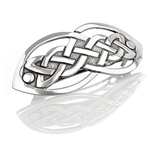 Open Celtic Knot - offen gefertigte keltische Haarspange aus England