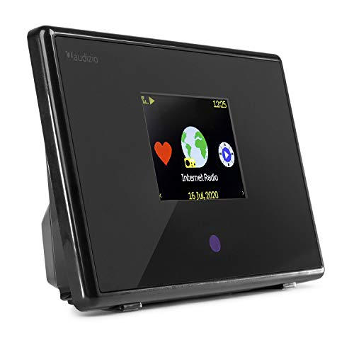 Audizio Turin WIFI - Adaptador de radio para internet, Bluetooth, para altavoces de alta fidelidad, temporizador de sueño, alarma doble, reloj, LAN, DNLA, transmisión UPnP