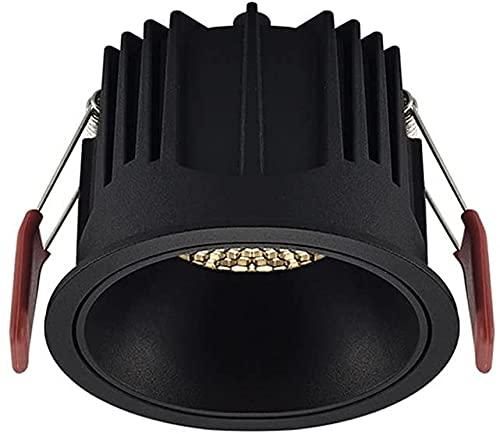 Raelf 7W Embedded Round LED Downlights Bedroom Aisle High-Brights Spotlights para el Techo Creative Honeycomb Design 3000K-6000K RA □ 93 Mall Fondo Panel Decorativo Foco de luz
