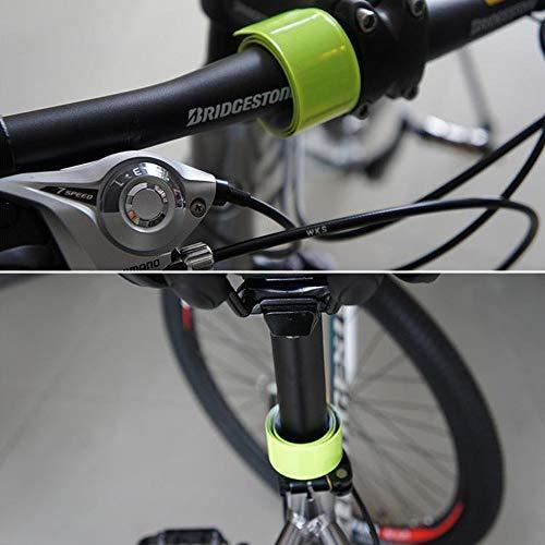 LAKIND 16PCS Reflektorbänder Schnapparmbänder Klatscharmband Sicherheitsband Reflektierend für Jogger und Radfahrer (16pcs) - 5