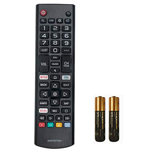 AKB75675304 New Replaced Remote Control for LG Smart TV 55UM69 32LM570BPUA 32LM620BPUA 43LM5700PUA 43UM7300PUA 43LM6300PUB 32LM5620BPUA 55UM6900PUA 49UM7100PUA with Two Batteries