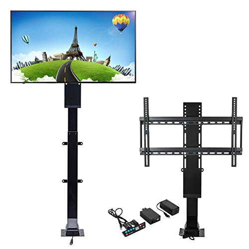 Mophorn Motorized TV Lift Flat TV 1000mm TV Lift Mechanism Auto Lifting Adjustable Height with Wireless RF Remote Controller for Plasma LCD LED TV and Monitors (32'-70')