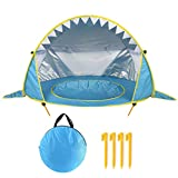 Free Swimming Baby Pop Up Baby Beach Tent with Pool,Portable Shark Sun Shelter