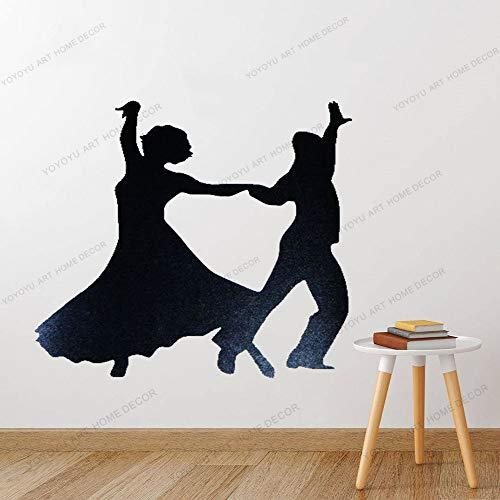 Couple Dance Car Sticker Wall Door Laptop Vinyl Decal Adhesive Dance Dancing Vinyl Decal Sticker Bedroom Decoration