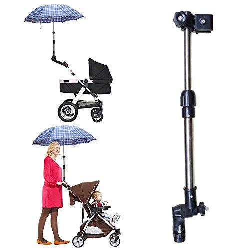 Manyao - Soporte para paraguas de cochecito, soporte para paraguas de golf, antirrayos UV para cochecito de bebé, soporte ajustable de sombrilla para cochecito, bicicleta, silla de ruedas