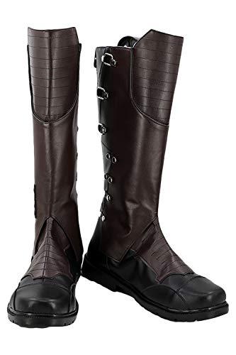 Guardianes de la galaxia 2 Cosplay Star Lord Peter Quill zapatos Pu botas de cuero llegada por encargo 36