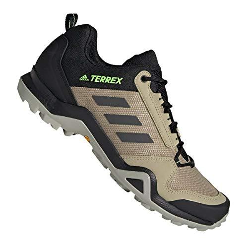 adidas Terrex Ax3, Chaussure de Piste d'athlétisme Homme, Savannah/Noir Noir/Vert Signal, 46 2/3 EU