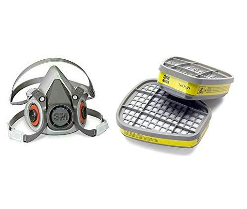 3M Medium Half Facepiece and 6003 Organic Vapour/Acid Gas Cartridge (Set of 2 Pcs)