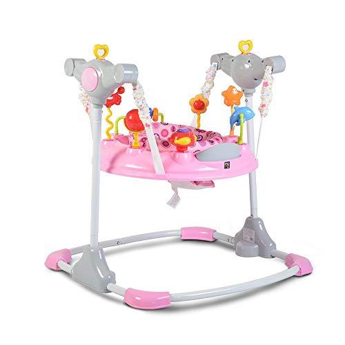 Cangaroo Hopser Vista mit Spielcenter, Musik, Licht, MP3-Anschluss, Höhe einstellbar, Farbe:pink