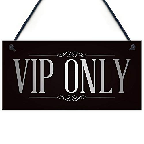 Meijiafei VIP ONLY Man Cave Home Bar Pub Sign BBQ Beer Garden Party Dad Mum Gift for Her 10' X 5'