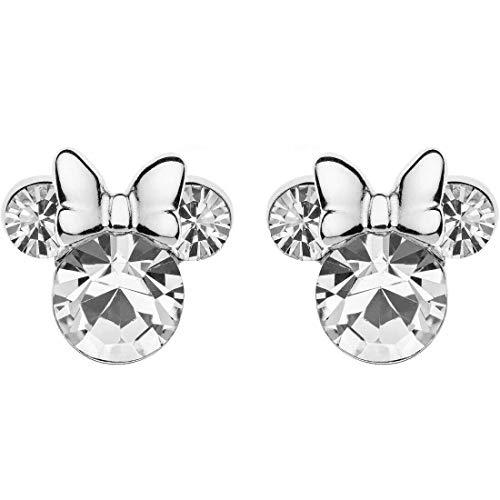 Disney - Pendientes de plata para niña con diseño de Mickey Mouse de Minnie Mouse, cód. E905162RAPRL