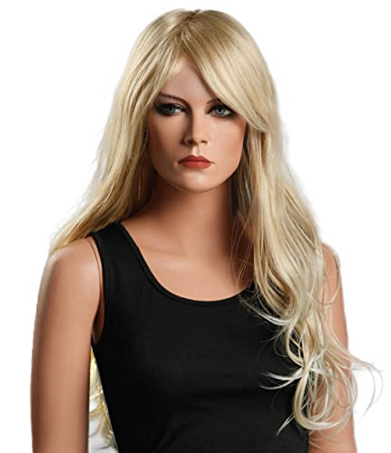 Beauty Smooth Hair Damen Lang Blonde Lockig Wellig Voll Peruecken Party Haar Cosplay Peruecke NW01