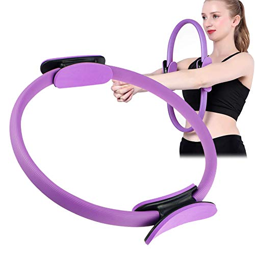 TOPJESS Yoga Aro Pilates, Anillo de Pilates, Anillo de Doble asa para Pilates, Aro Fitness, Círculo para Quemar Grasa, Anillo Yoga Gimnasio Ejercicio
