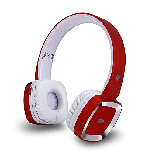 Winnes Draagbare bluetooth hoofdtelefoon, Bluetooth koptelefoon Hi-Fi stereo draadloos Headsets voor over het oor Geluidswering Ondersteuning van TF kaart MP3-speler