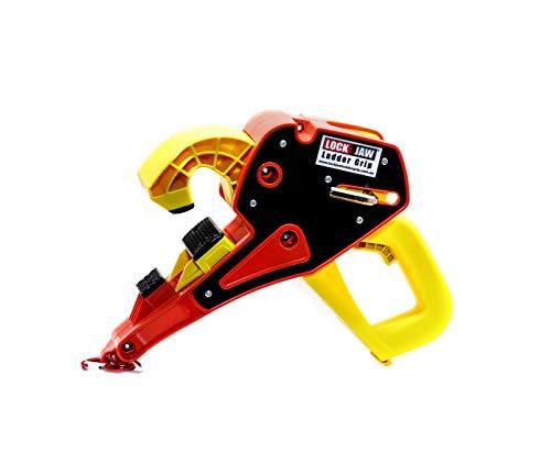 Lock Jaw Ladder Grip, Ladder Stabilizer, Fits on Gutters in Seconds, Slide Lock, Rolling Safety Device, Ladder Gutter Clip
