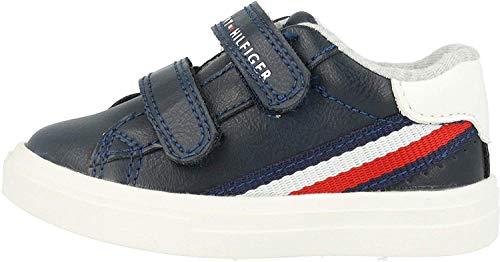 Tommy Hilfiger Low-Cut Velcro Kinder Sneaker Blau