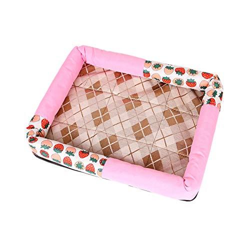 WPCASE Colchonetas para Perros Cojin Perro para Animal DoméStico Colchoneta Transpirable para Dormir Manta Frio para Perro Y Gato Large,Pink