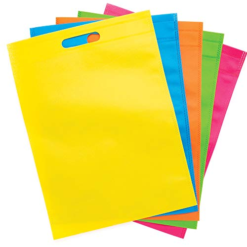 Baker Ross- Diseña tu propia bolsa de tela de colores (Pack de 6) Creatividad para kits de manualidades para niños