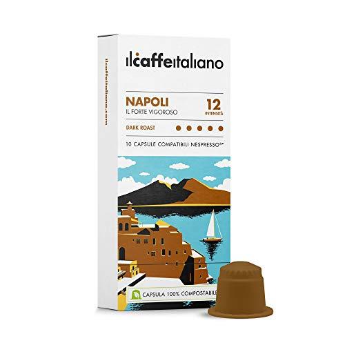 Il Caffè Italiano - Nespresso 100 Capsule compatibili Compostabili - Napoli Intensità 12