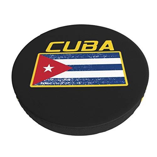 WUSA15UF Funda de cojín para silla de bar, extraíble, lavable, diseño de bandera de Cuba