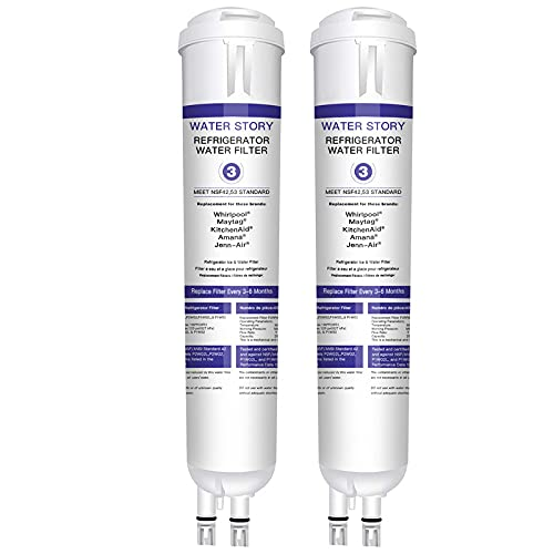 4396841 4396710 Water Filter Cap Compatible with 4396841, EDR3RXD1, Filter 3, P2RFWG2, Kenmore 9083 Kenmore 9030 Water Filter White - 2-Pack