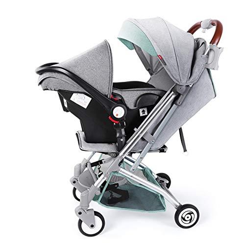 Rabbfay Bebé Sillas De Paseo 2 En 1 Carro con Convertible Reversible Moisés con 360 Rotación Función Choque Amortiguador para Infantil Recién Nacido Sentar Y Dormir Carritos