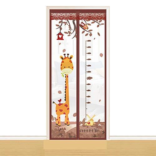 NXM Magnet Fliegengitter Tür Insektenschutz Tür Magnetvorhang Fliegenvorhang Moskitonetz Für Balkontür Kellertür Und Terrassentür, Kinderleichte Klebemontage Ohne Bohren,A,90cm/210cm