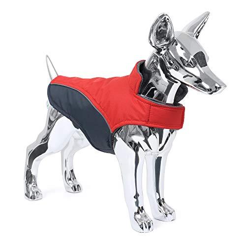Mile High Life | Chaqueta para Perro Impermeable y Caliente | Chaqueta para Perro pequeño de Cierre fácil Paso a Paso | Abrigos para Cachorros Raya Reflectante para el Paseo Nocturno