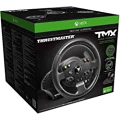 """900° force feedback base. Mixed belt-pulley and gears system, metal ball-bearing axle. Realistic """"competition"""" wheel design: 11""""/28 cm in diameter, with an ergonomic design perfectly adapted for all racing games Xbox One certified embedded software: ..."""