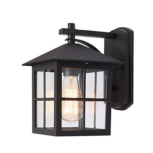 WHSS Luces de pared de estilo europeo minimalista lámpara de noche impermeable al aire libre jardín patio jardín jardín luces carretera antigua lámpara de pared 26,5 x 23,5 x 18,5 cm