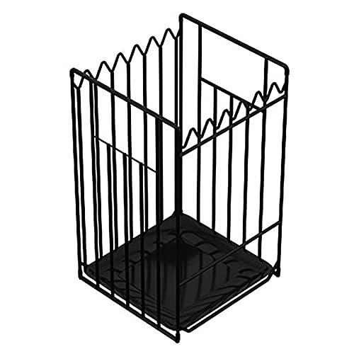 Paragüero Soporte para Paraguas de Hotel Negro, Moderno Soporte de Paraguas Independiente para El Hogar con Bandeja de Agua Extraíble, para Puertas/Salas de Estar (Size : 33x23x54cm/13x9.1x21.3in)