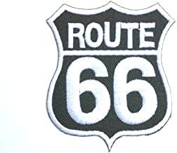ROUTE 66 Classic Road Sign Logo Biker Rockabilly Hotrod Iron On Patch