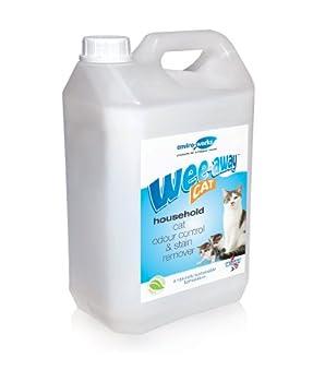 Wee Away - Produit anti-odeurs - Spécial urine de chat - 5 l