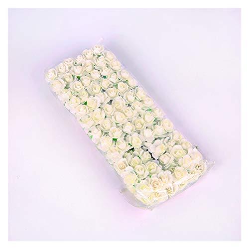 WANGYA Getrocknete Blumen 144 stücke 1,5 cm Mini Spitze Papier Rose Künstliche Hochzeit Blume Blume Dekoration DIY Girlande Rose Bär Zubehör Handwerk Blume Blumen getrocknet strauß