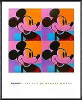 ポスター アンディ ウォーホル ミッキーマウス 1982 額装品 アルミ製ハイグレードフレーム(ブラック)