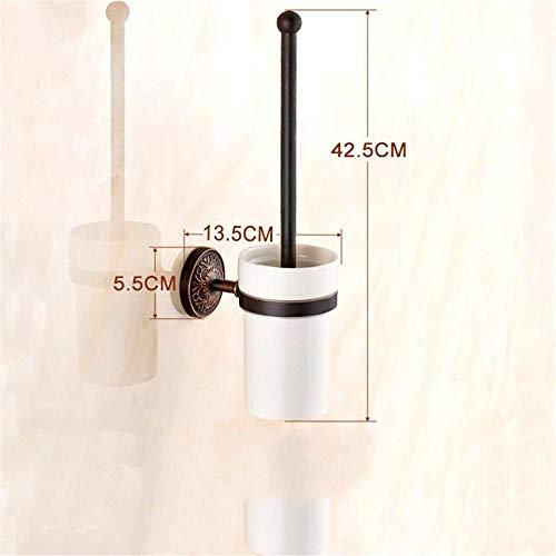 Generic Badausstattung Sets Badezimmer-Zubehör Sanitär Badinstallationen Lagersysteme Kupfer Schwarz AntikRegal Handtuchhalter Doppelbar-Klobürste