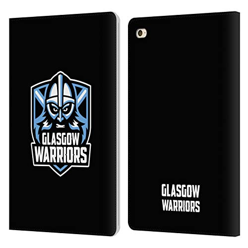 Head Case Designs Officially Licensed Glasgow Warriors Plain Black Logo Leather Book Wallet Case Cover Compatible With Apple iPad mini 4